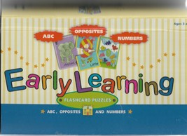Early Learning FLASHCARD PUZZLES - $31.63