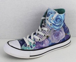 Converse women's high top shoes Chuck Taylor All Star flowers textile si... - $21.14