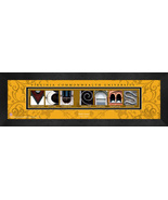 Personalized Virginia Commonwealth University Campus Letter Art Framed P... - $39.95
