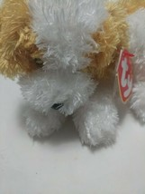 Ty Original Beanie Baby Darling The Dog White And Gold 2001 Retired - $11.95