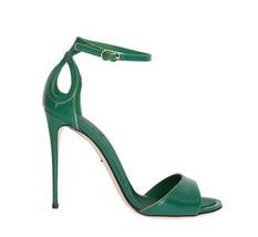 Dolce & Gabbana Women Green Gold Patent Leather Heels Pumps EU39/US8.5 - $233.62