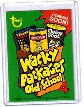 """2012 Wacky Packages Old School Series 4 Promo """"WRINKLY PACKAGES OLD SKULL"""" NYCC image 2"""
