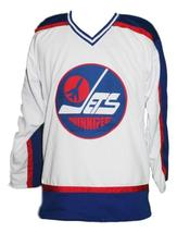 Teemu selanne  8 winnipeg jets wha retro hockey jersey white  1 thumb200