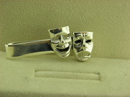 Sterling Silver Two Mask Tie Clasp #8 - $16.65