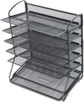 Document Letter Tray Organizer 6Tier Tray Desk Office Home Spa Utility M... - $40.02