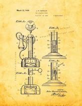 Toy Speaking Phone Patent Print - Golden Look - $7.95+