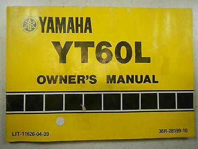 84 Yamaha YT60 Trizinger Oem Original and 13 similar items on