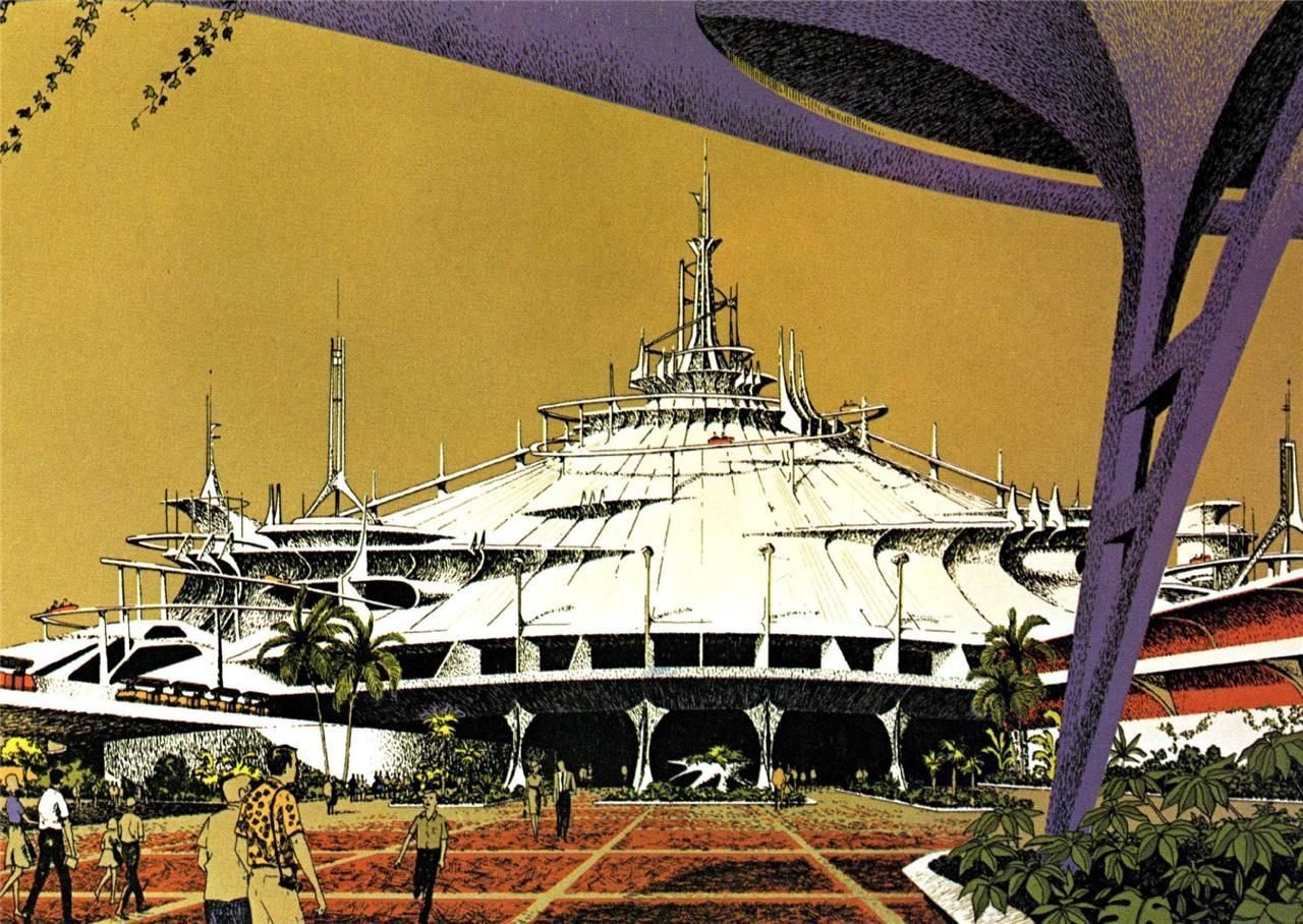 Primary image for WALT DISNEY WORLD SPACE MOUNTAIN POSTER 1969 - 24  X  36 INCH disneyland, mickey