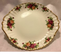 Royal Albert Bone China England Old Country Roses Round Cookie Cake Tray... - $34.95