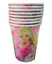 Barbie Fashionista Birthday Party 9 oz Hot or Cold Paper Cups 8 Per Pack... - $5.24