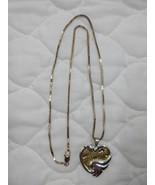 Gorham Sterling Silver Necklace HEART Sand FOOTPRINTS & Verse on back 20... - $30.00