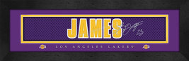 LeBron James Los Angeles Lakers Signature Nameplate 8x24 Stitched Jersey... - $39.95