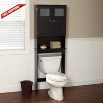 Bath Caddy Over The Toilet Cabinet Storage Wood Bathroom Organizer Space... - $134.26