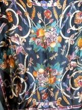 """Vintage Scarf Ann Klein for Vera Japan  100% Silk Hand Rolled Edges 30"""" - $19.00"""