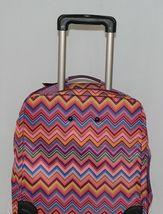 Hadaki Brand HDK879 Multi Color Chevron Plane Hopping Roller Suitcase image 7