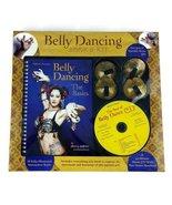 Belly Dancing Book Kit 2002 Sherry Jeffries music CD brass cymbals Zills   - $21.77