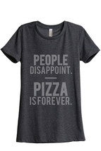 Thread Tank Pizza Is Forever Women's Relaxed T-Shirt Tee Charcoal Grey - $24.99+