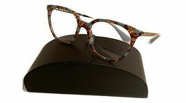 Prada Women's Brown Blue Glasses with case VPR 11T KJO-1O1 51mm - $185.99