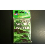 Party LOT:  Camo Invitations (24), Honeycomb and Banner - $19.79