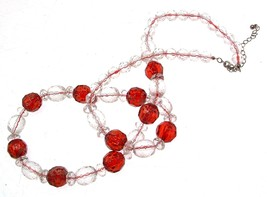 Beaded Necklaces Statement Necklaces For Women Red Necklaces Code 11211 - $16.32