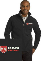 RAM Hemi Black Embroidered Port Authority Core Soft Shell Unisex Jacket NEW - $39.99