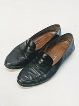 Salvatore Ferragamo Studio Black Leather Penny Loafers Slip On Shoes Size 11 D - $51.81