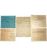 5 1901 NEW YORK Billhead Document Receipts Wool Cotton Electrical - $14.99