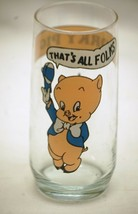 Porky Pig Advertising Drinking Glass 1966 Looney Tunes Animation Art War... - $12.86