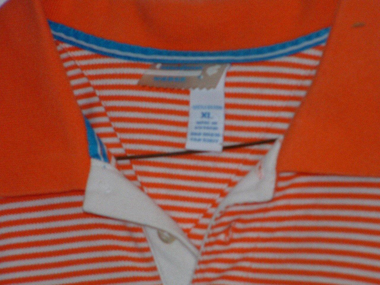 Pre-Owned  XL Rocawear Orange & White Polo Shirt