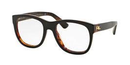 Ralph Lauren 0RL6143 Eyeglasses Top Black On Jerry Havana 5260 Size 54mm - $131.67