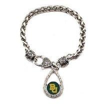 Inspired Silver Baylor University Bears Teardrop Charm Silver plated Lob... - $590,81 MXN