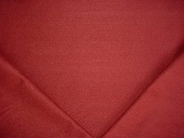 131H7 - Berry Red / Crimson Jumper Herringbone Drapery Upholstery Fabric - $4.98