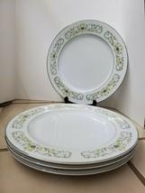 "Sterling Fine China Of Japan ""Florentine"" Dinner Plates *Set Of 4* Silve... - $50.00"
