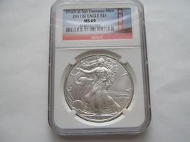 2011 (S) , Eagle , MS 69 , NGC , Struck at San Francisco - $64.35