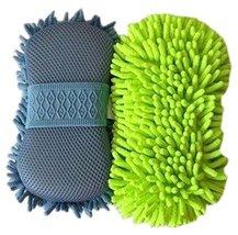 PANDA SUPERSTORE Set of 2 Scratch-Free Wash Mitt Auto Detailing Hand Car Wash Mi