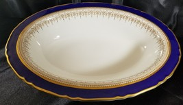 "Royal Worcester REGENCY BLUE Oval Vegetable Bowl 10 5/8"" x 7 5/8"" - $92.57"