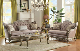 Traditional Living Room Couch Set Furniture - NIERSON Taupe Fabric Sofa ... - $2,439.33