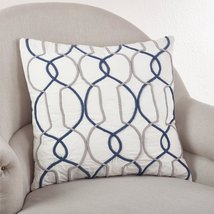"Fennco Styles Cord Design Gep Throw Pillow, 3 Colors (Square 20""x20"", Na... - $46.52"