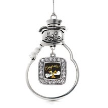 Inspired Silver Diploma Classic Snowman Holiday Christmas Tree Ornament With Cry - $14.69