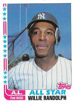 1982 Topps #548 Willie Randolph > New York Yankees > A - $0.99