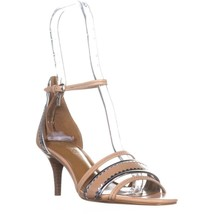 Coach Maxine Open Toe Ankle Strap Sandals, Beechwood/Silver - $114.73