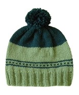 Closet Values Toddler Girls Size 2T-3T Green Pom Pom Knit Hat - $10.99