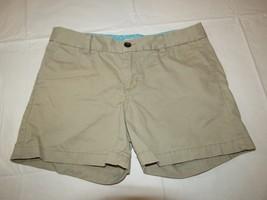 Merona womens shorts size 6 khaki tan cotton Pre-owned EUC - $17.81