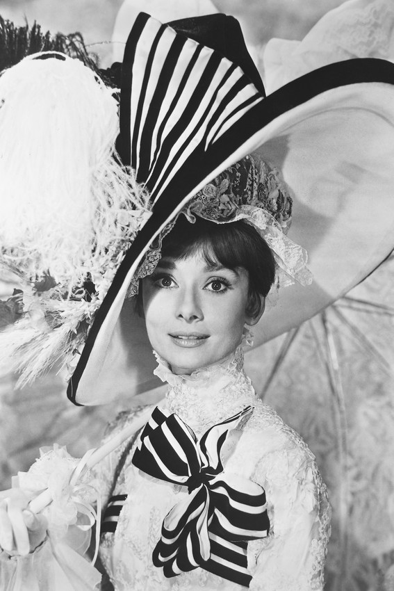 Primary image for My Fair Lady Audrey Hepburn Large Fancy Hat 18x24 Poster