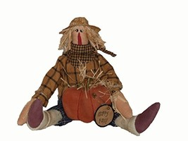 Craft Outlet Happy Fall Primitive Scarecrow Figurine, 10-Inch - $25.58