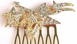 Nina Women's Prema Gold Finish Swarovski Multi-Star Wedding Bridal Hair Comb NWT image 2