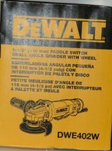 DeWalt DWE402W 4 1/2 inch Paddle Switch Small Angle Grinder with Wheel Corded image 5