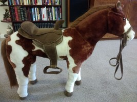 """Large Hearthsong Plush Horse / Pony Kids Toy 32"""" Long x 26"""" Tall ~ Beaut... - $123.75"""