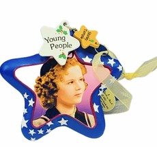 Shirley Temple Christmas ornament Danbury Mint holiday Young People blue... - $29.65