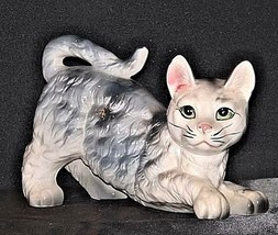 Kitten Figurine  AA18 - 1163 Vintage Grey and White